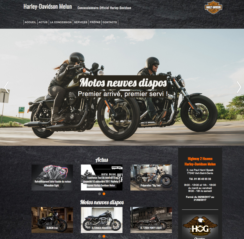 Harley-Davidson Melun : site internet et réseaux sociaux