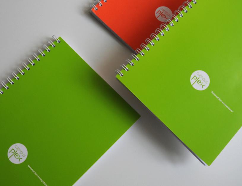 Campusplex, un joli logo et de beaux cahiers pour bien travailler...