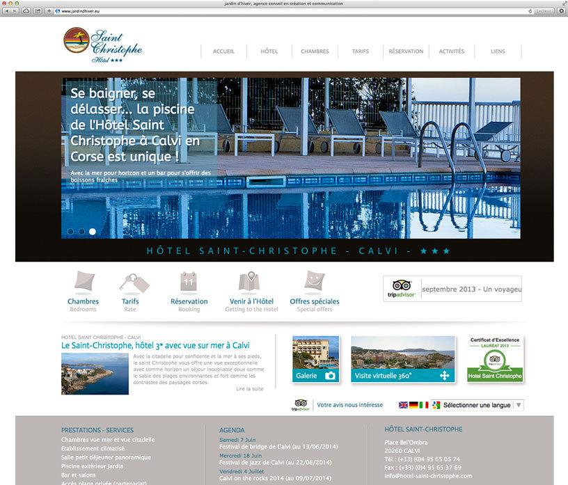 L'Hôtel Saint Christophe à Calvi : nouveau site internet et toujours la plus belle vue sur la mer