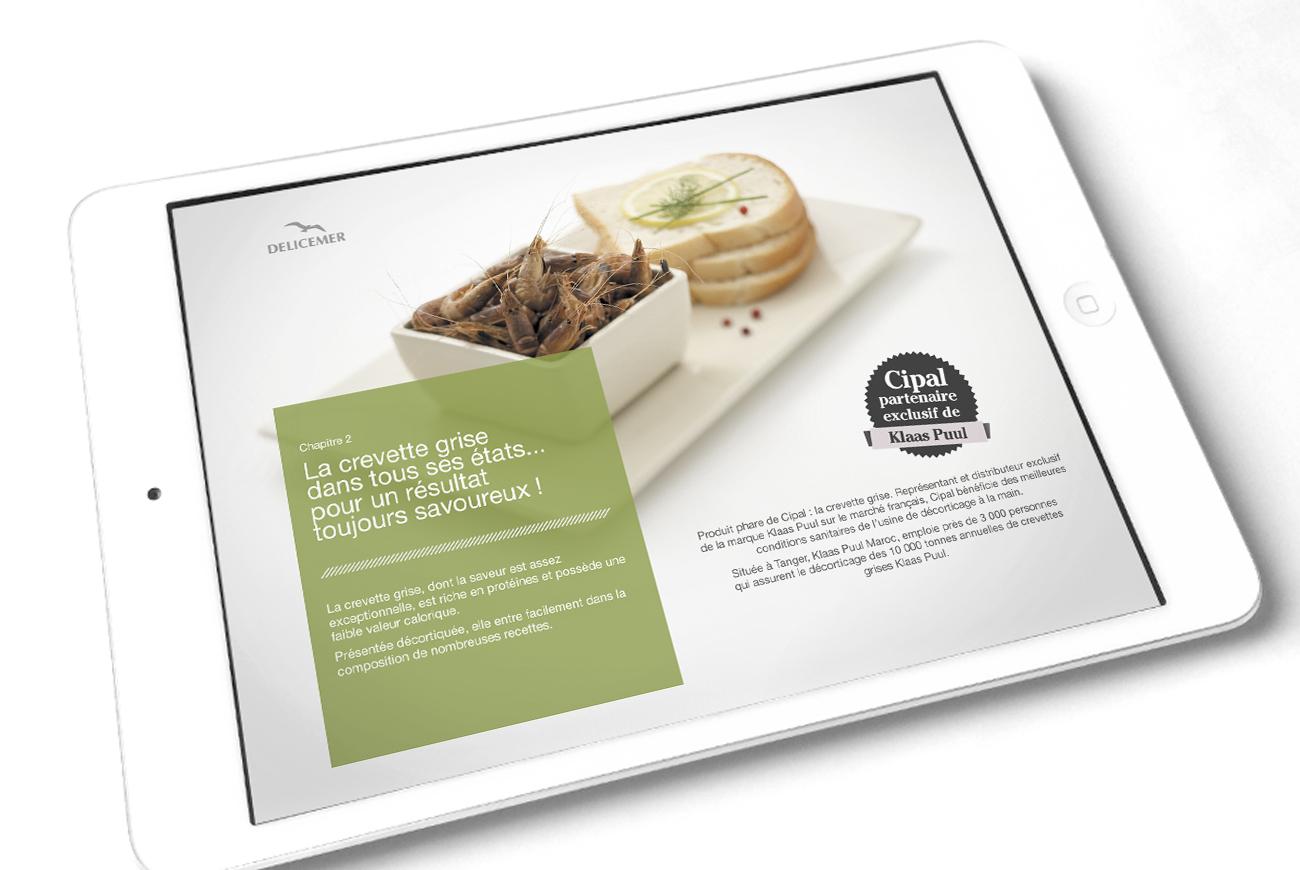 Une version numérique du catalogue papier : la fraîcheur indispensable pour le spécialiste des produits de la mer !