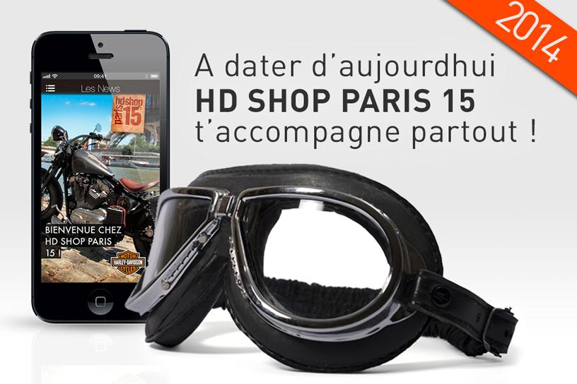 Hd Shop Paris te donne rendez-vous sur l'App Store !
