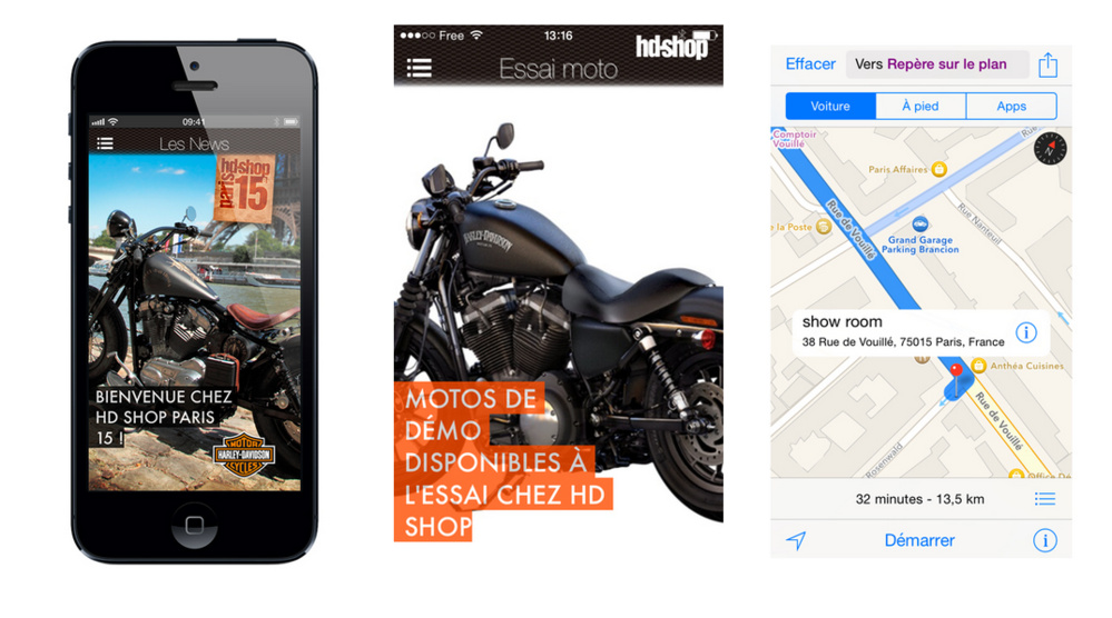 Application Harley-Davidson Iphone Androïd
