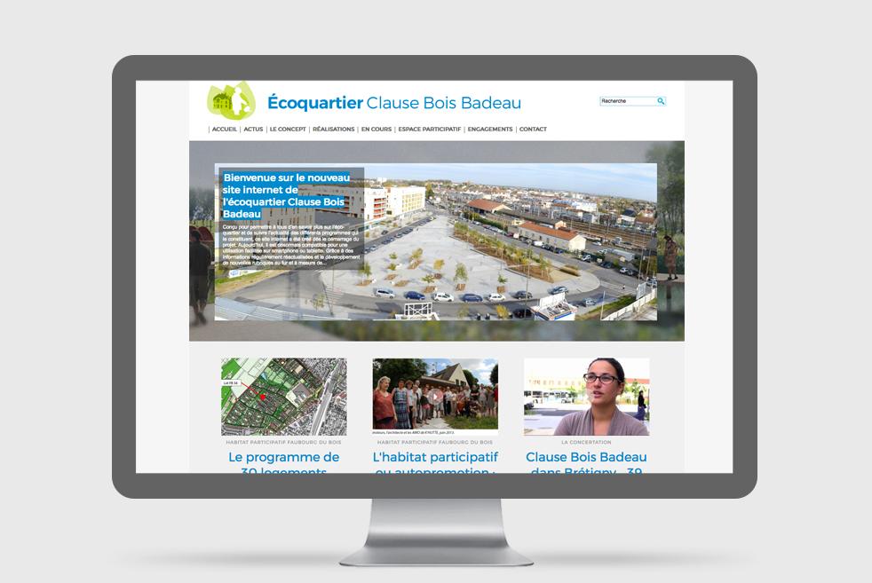 Éco-quartier Clause-Bois Badeau : un nouveau site responsive
