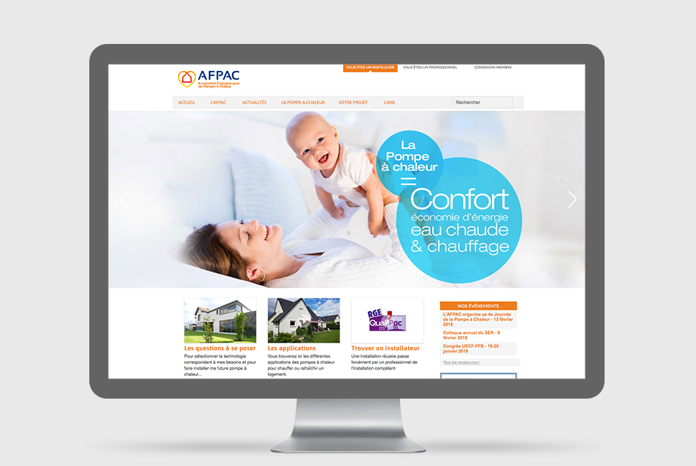 AFPAC Association Française pour la Pompe à Chaleur : internet - intranet